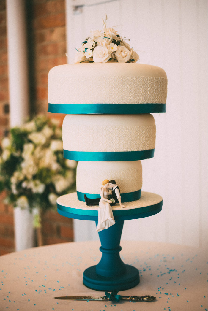 Vicky & Steves upside wedding cake.