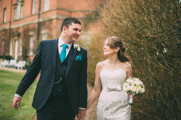 Vicky and Steves first walk as husband and wife